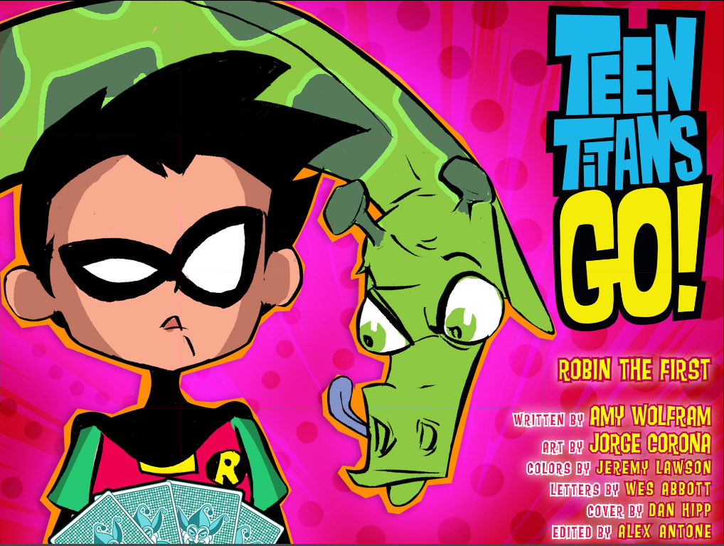 Teen Titans Go! #8 credits page