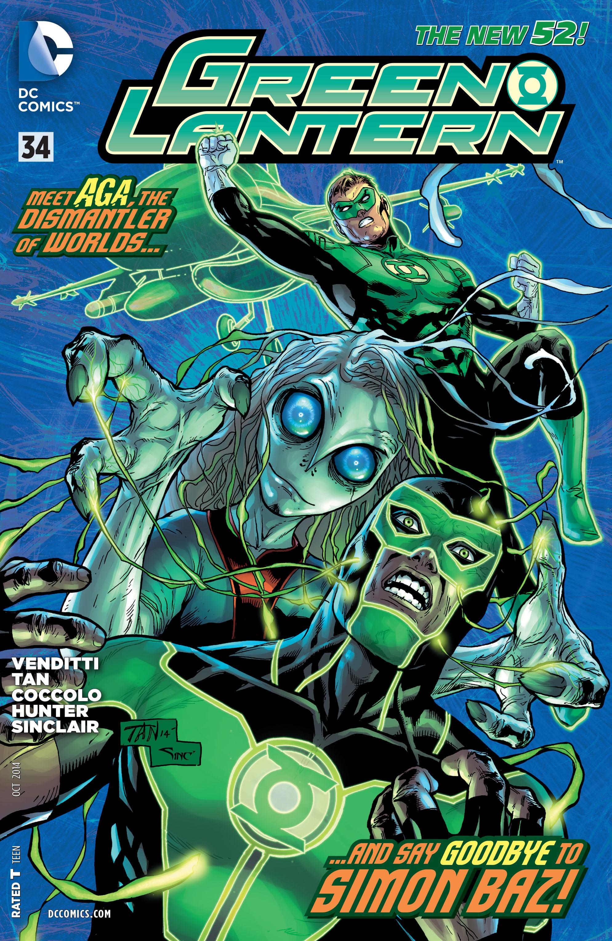 GREEN LANTERN #34 - cover