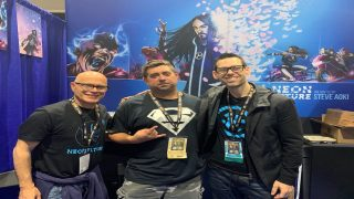 DCN's Jeff Testanero with Jim Krueger and Tom Bilyeu from Impact Theory Comics