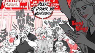 Harley Quinn: Black + White + Red #8